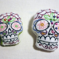 Pique-Aiguilles Sugar Skull Cavaleras Dia de la muerte