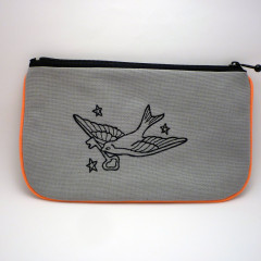 La trousse plate fluo orange swallow